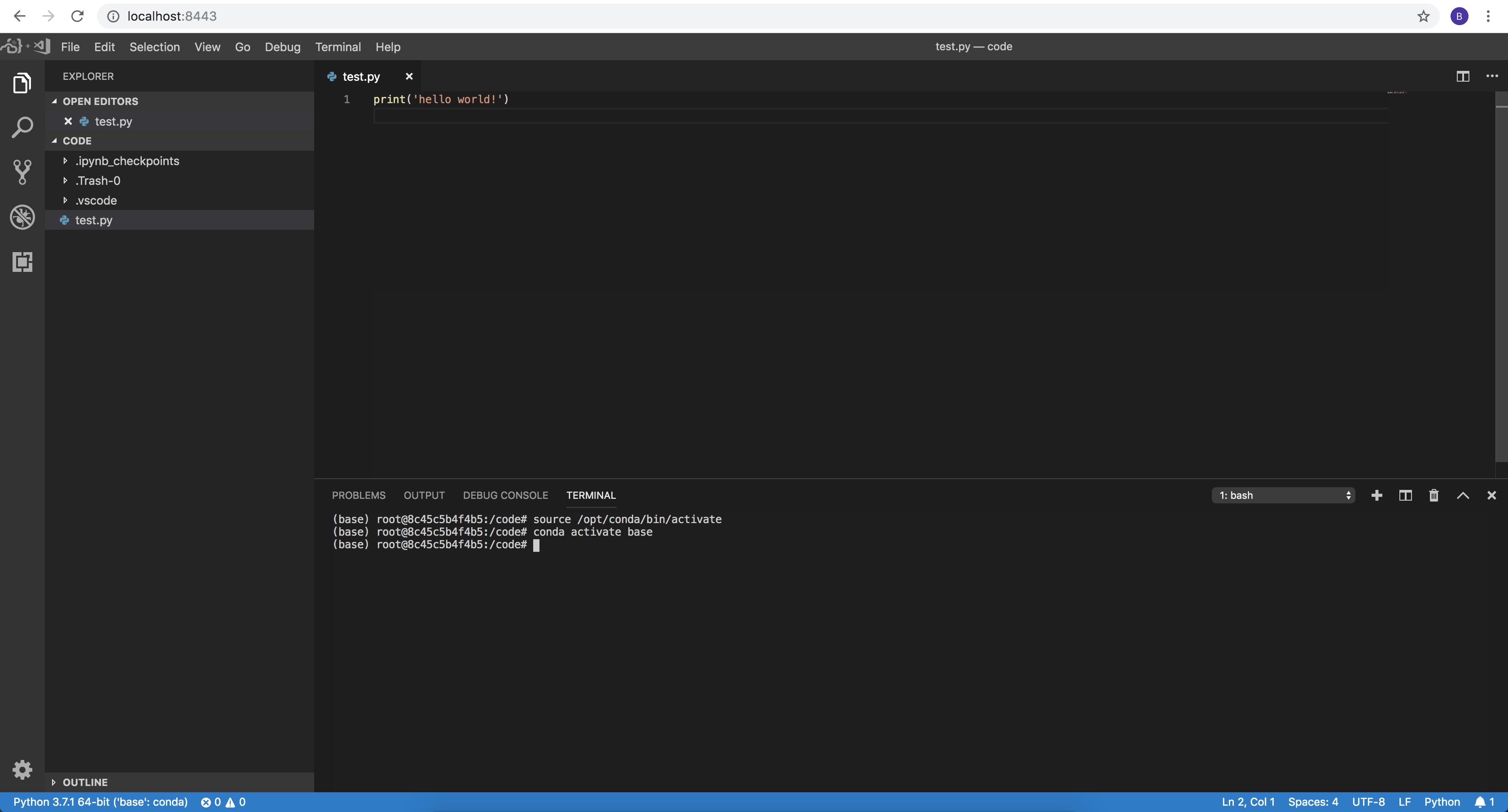 Running VSCode in Docker | Binal Patel